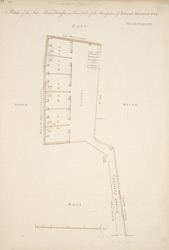 Plan of the Six Alms-Houses on Snow-Hill of the Benefaction of Edmond Hammond ESQ
